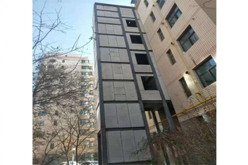 舊樓改造電梯井安裝工程施工完成