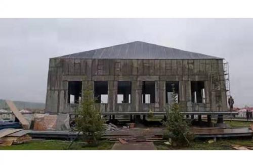 瑪曲阿萬倉濕地公園國家演繹大廳建設施工